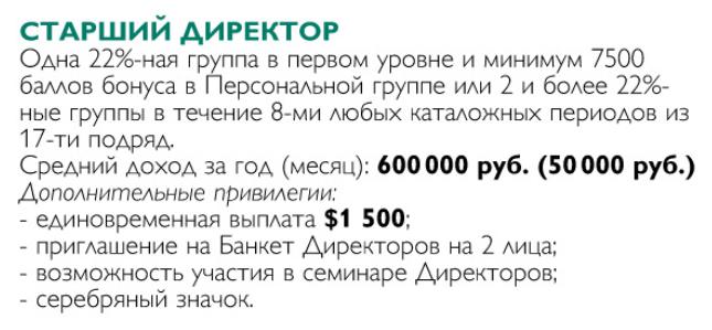 СТАРШИЙ ДИРЕКТОР ОРИФЛЕЙМ