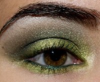 Вчерний макияж для карих глаз