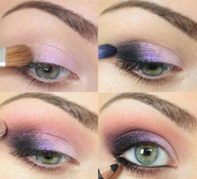 Визуальное увеличение глаз с помощью теней