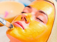 Желтый пилинг для лица
