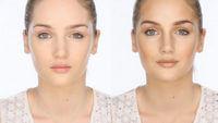Исправление асимметрии лица с помощью макияжа