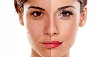 Эффект применения тонального крема